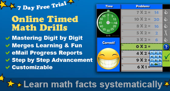 1 Online Timed Math Drills | Math Facts Program | Games